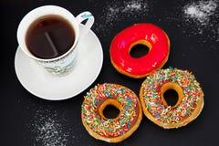 Świezi donuts dla brakfast Obrazy Stock