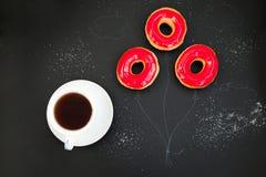 Świezi donuts dla brakfast Zdjęcia Stock