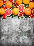 świezi grapefruits Obrazy Royalty Free
