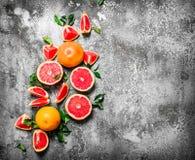 świezi grapefruits Zdjęcie Stock