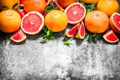 świezi grapefruits Zdjęcie Royalty Free