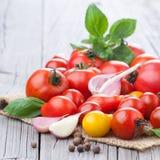 świezi grupowi pomidory Obrazy Royalty Free