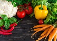 świezi grupowi warzywa Fotografia Royalty Free