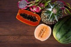 Świezi i kolorowi warzywa i owoc Obraz Stock