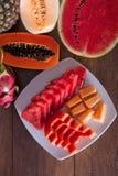 Świezi i kolorowi warzywa i owoc Zdjęcie Royalty Free