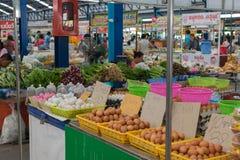 Świezi jajka przy tajlandzkim rynkiem Zdjęcie Stock