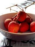 Świezi lychees Zdjęcia Royalty Free