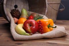Świezi owoc i warzywo dla zdrowego Obrazy Royalty Free