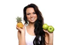 świezi owoc portreta kobiety potomstwa Fotografia Stock