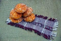 Świezi, piec donuts na pielusze sherstnyanoy, Zdjęcia Royalty Free