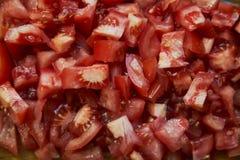świezi pokrojeni pomidory Zdjęcia Royalty Free