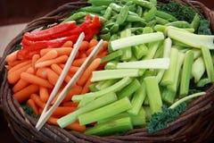 świezi przygotowani warzywa Zdjęcie Stock
