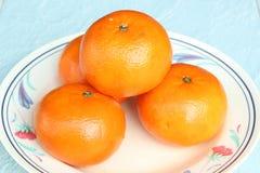 Świezi tangerines Zdjęcia Royalty Free