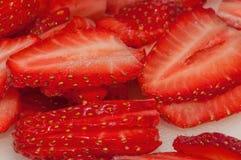Świezi truskawka plasterki Fotografia Stock
