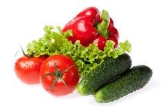świezi ustaleni warzywa Fotografia Royalty Free
