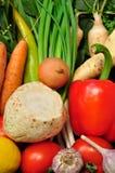 Świezi warzywa i biel korzenie Zdjęcia Stock
