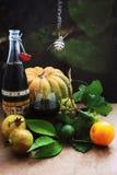 Świezi warzywa i Halloween Fotografia Stock