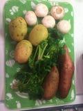 Świezi warzywa od gospodarstwa rolnego na osuszce Obraz Stock