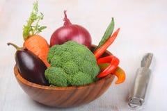 Świezi warzywa w pucharze Obraz Stock
