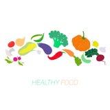 Świezi warzywa z placeholder dla teksta Zdjęcie Stock