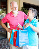 Wife Addicted to Shopping royalty free stock image