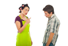 Wife argue her unfaithful husband Stock Photo