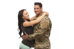 Wife embracing her husband royalty free stock image