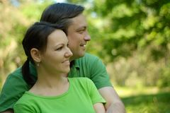Wife and her husband Royalty Free Stock Photography