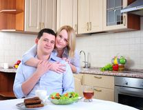 The wife and husband Stock Photography