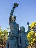 Wife of the Seafarer, Bronze Statue, Galaxidi, Greece Stock Photography
