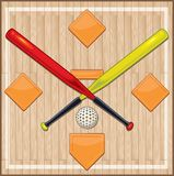 Wiffle Ball Court with Plastic Bases royalty free illustration