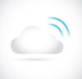 Wifi云彩计算的存贮服务器例证 库存照片