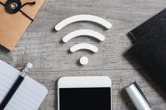 Wifi和互联网连接 免版税库存照片