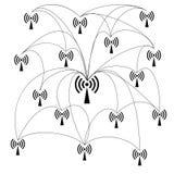 WiFi和无线网络象 库存照片