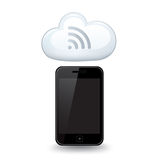 WiFi聪明的电话云彩 免版税库存照片
