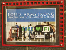 Wifi à l'aéroport de Louis Armstrong New Orleans International - la NOUVELLE-ORLÉANS, LOUISIANE - 18 avril 2016 Images libres de droits