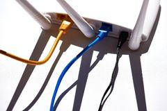 WiFi/ασύρματος εξοπλισμός τεχνολογίας δρομολογητών στοκ εικόνες