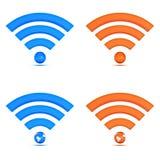 wifi иконы собрания 3d Стоковое фото RF
