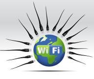 wifi иконы Стоковые Изображения RF