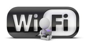 wifi людей 3d малое Стоковое Изображение