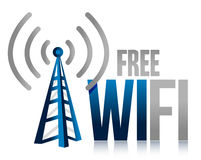 自由wifi塔例证设计 库存图片