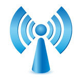 Wifi. Blue wifi antena on white background Stock Photo