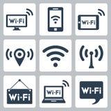 Установленные значки wifi вектора Стоковое Изображение