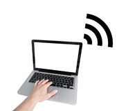 Wifi access. Shown in a symbolic way Royalty Free Stock Photography