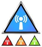 Wifi/antennes/icône de signal Illustration Libre de Droits