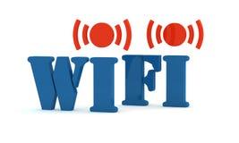 Wifi azul do ícone Fotografia de Stock