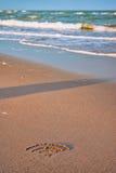 Wifi on the beach. Wifi symbol on the beach Royalty Free Stock Image