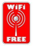 WiFi bezpłatna etykietka na czerwonym tle Zdjęcie Stock