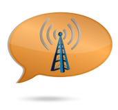 Wifi-Blasenturm-Illustrationsdesign Stockfoto