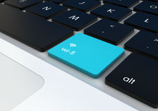 Wifi button Royalty Free Stock Image